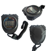 Sports Stopwatch Professional Handheld Digital LCD Sports Stopwatch Chronograph Counter Timer With Strap(China)