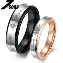 "7SEAS 1 Pcs Price Fashion Couple ""Forever Love"" Finger Men Jewelry Rings For Women Male Size 7-15 Lady Size 5-11 Lovers Ring 283(China)"
