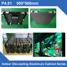 TEEHO P4.81 indoor LED screen Display wall DieCast Cabinet panel indoor smd led video rental advertising wedding hotel stadium