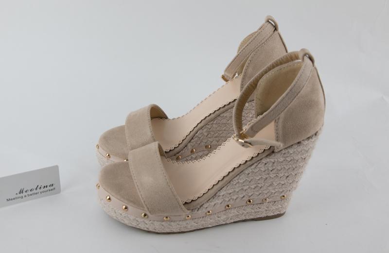 Women's Sandals, Platform Sandals, High Heels Shoes, Ankle Strap, Ladies Sandals Rivet Casual Footwear 19