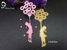 METAL CUTTING DIES balloon flying girl DIY Scrapbooking card album paper craft party decor stencils punch cuts  dies cutting