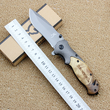 Browning X50 folding knife 5cr15mov blade + wooden handle outdoor camping hunting tactical knife EDC survival tools