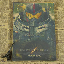Pacific Rim Poster warrior robot retro design drawings of decorative painting Kraft Movie Poster/wall sticker/Kraft Poster