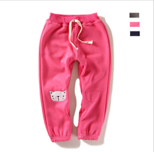 2-6yrs Girls Winter pants New 2016 Kid pants warm Cashmere Children winter Trousers for baby girls harems pants(China)