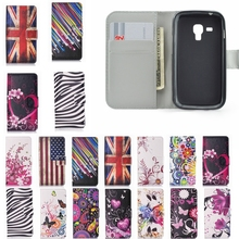 Colorful Leather Flip Cover Case For Samsung Galaxy Trend Plus GT S7580 / Trend Duos GT S7562 s7560 \ S Duos 2 S7582 Cases