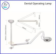 360 Degree Ceiling Mount Medical LED Surgical Exam Light Shadowless Lamp Cold Light 36W