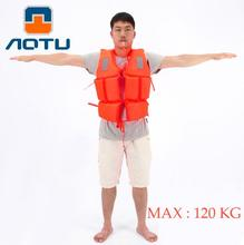 AOTU Brand Polyester Adult Life Jacket Universal Swimming Boating Ski Drifting Foam Vest with Whistle Prevention(China)