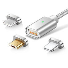 Micro USB Type C 8 Pin Cable Fast Charge Cable Iphone X XS Mobile Phone Magnet Charger Samsung Xiaomi Magnetic USB Cable