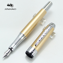JINHAO 250 Fountain Pen 18K Iridium Nib High quality New Pen Champagne barrel and silver clip Optional Kind shooting