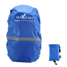 Travelsky Bag Cover 20~50L Waterproof Rain Cover For Backpack Camping Hiking Cycling School Backpack Luggage Bags Dust Covers(China)