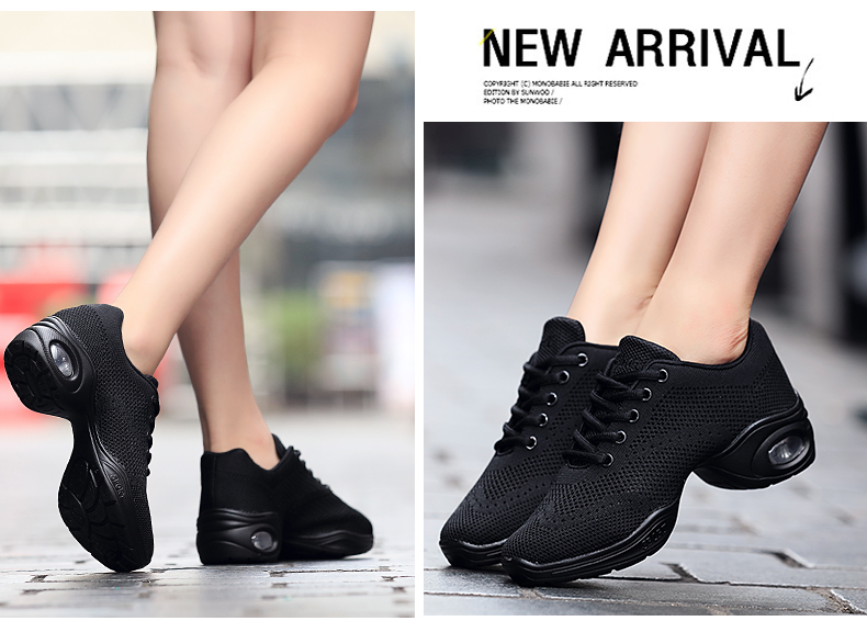 women dance shoes fabric mesh breathable modern square jazz dance shoes ladies fitness trainers girls dance sneakers shoes 257f