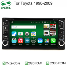 GreenYi Octa 8 Core 2GB RAM 32GB ROM Android 6.0 Car DVD Head Multimedia GPS Radio For Old Toyota Crown Previa Tundra Sequoia