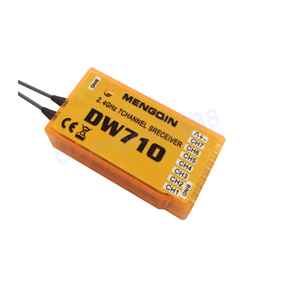 1pcs RC Receiver DW710 compatible WFLY 2.4G Receiver For 4 channel WFLY6 WFLY7 WFLY9 Remote Control<br><br>Aliexpress