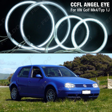 FEELDO 2X 126mm 2X 90mm White Car CCFL Angel eyes LED Kits For VW GOLF4/MK4/Typ1J Angel Eyes Kits #AM4282(China)