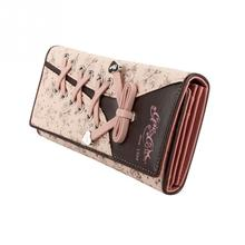 New Year Women Purse Long Design Locking Buckle Wallets for Female Purses  Shoelace Styler Money Bag