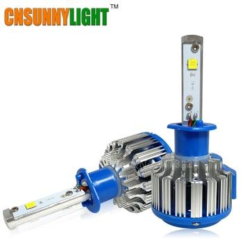6000lm cnsunnylight 60 w h1 llevó la linterna del coche kit de conversión de la lámpara de conducción del automóvil principal externo luces antiniebla head light