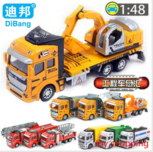 Children 's toy Car car 1:48 back to the alloy car model Toy excavator alloy back to work vehicles(China)