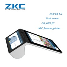 ZKC900 Android handheld pos with GPS 3G WiFi Printer Android RFID NFC Scanner