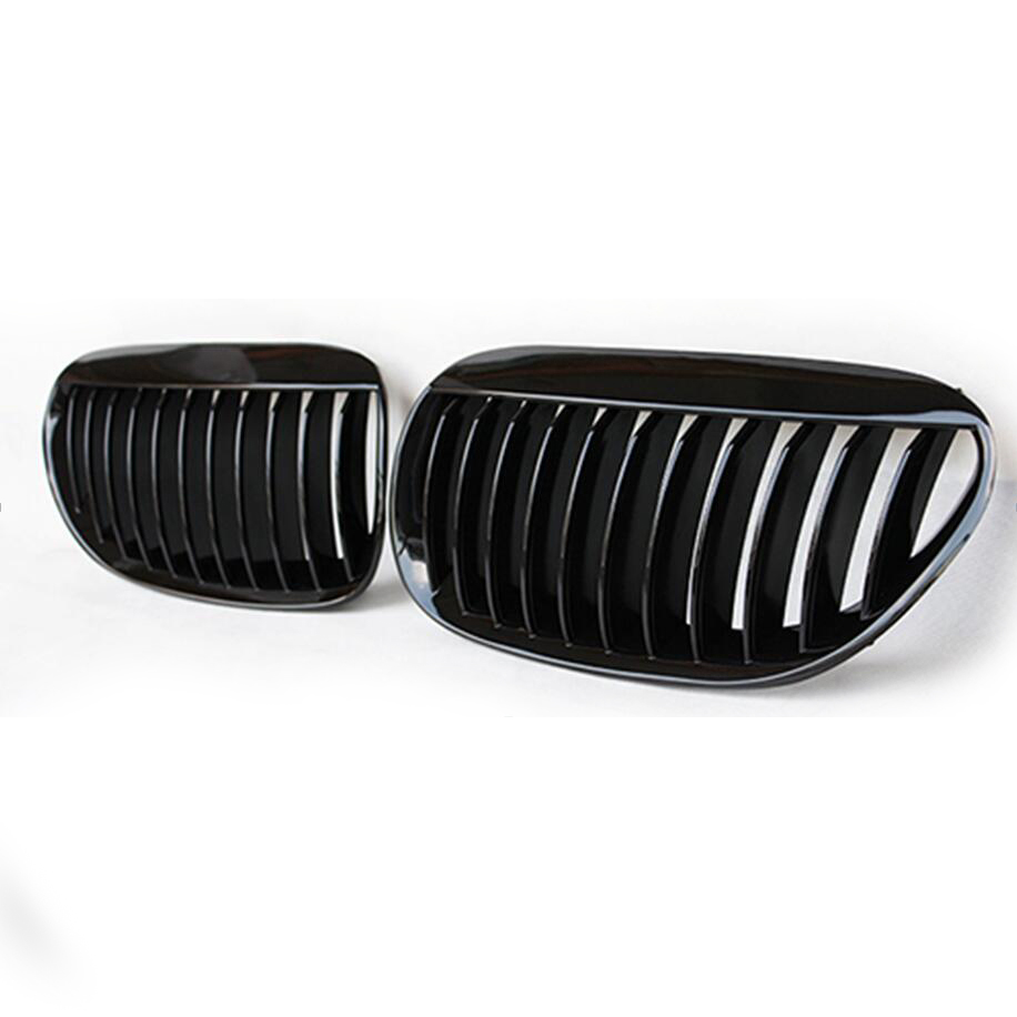 E63 coupe gloss black front grille racing grill for BMW 6 series E64 2005 to 2010 630ci 645ci 650i 630i 635d 650ci car tuning<br><br>Aliexpress