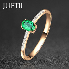 unique emerald Sparkling Solitaire 1ct Zirconia CZ forever Wedding Ring bijoux