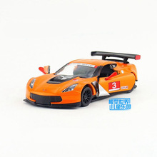 Free Shipping/KiNSMART Toy/Diecast Model/1:36 Scale/2016 Chevrolet Corvette C7.R Race/Pull Back Car/Collection/Gift/Children(China)