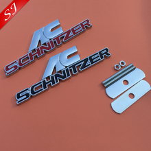 High quality AC SCHNITZER logo Car Grill Emblem Front Hood Grille Badge accessories Free shipping