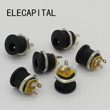 10pcs DC Jack socket 5.5*2.1(China)