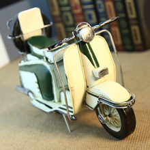 Retro Tin motorcycle scooter Hepburn model 1953 Roman holiday sheep Home Furnishing ornaments home decoration accessories