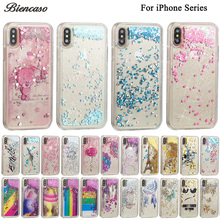Glitter Stars Dynamic Liquid Quicksand Soft TPU Case for iPhone X 8 7 6 6S Plus 5 5S SE 4 4S iPod Touch 6 5 Silicone Cover B31(China)