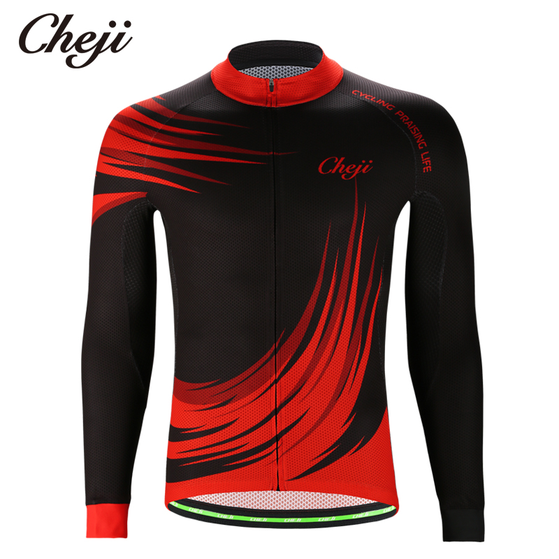 CHEJI Spring Summer Autumn Long Sleeves Mens Bicyc...