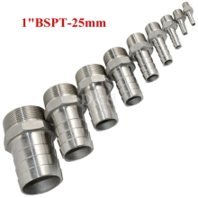 "20pcs 25mm OD barb to 1""BSPT male thread SS Pipe Fitting"