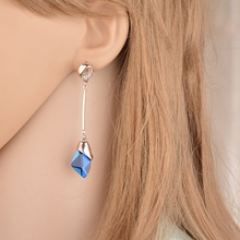 Terreau Kathy New Korean Wild Temperament Gorgeous Star Magazine OL Simple Ingot Female Jewelry Water  Earrings For Women
