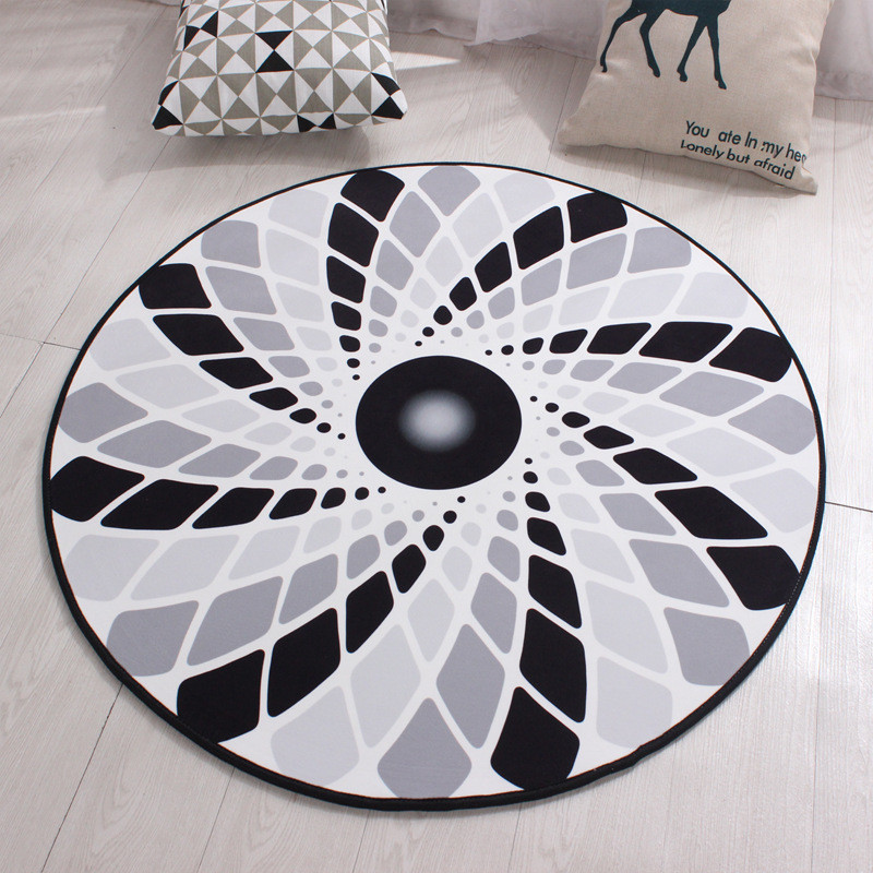 Round Creative Soft Carpet Living Room European Home Warm Plush Floor Rugs Mats Room Faux Fur Area Rug Living Room Mats LST