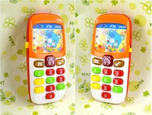 Kid Toy Cellphone Mobile Phone Early Educational Learning Toy Machine Music Toy Electric Phone Model Educational Puzzle Toy(China)