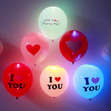 5pcs 12 Inches LED Balloon Light Ball Latex Helium Balloons Christmas Birthday Party Decor Wedding Party Ballon Supplies(China)