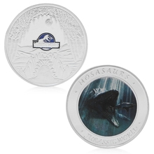 Jurassic World Park Silver Plated Commemorative Challenge Coin Token Collection