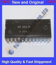 Free Shipping 1 x HEF4514BP 1-of-16 decoder/demultiplexer with input la  DIP-24 1pcs