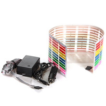 45x11cm Sound Activated Equalizer Car Sticker Music Rhythm LED Flash Light Lamp