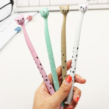 4 PCS/lot Cute Cartoon Cat Gel Pen Kawaii Stationery Pens Material Escolar Office School Supplies