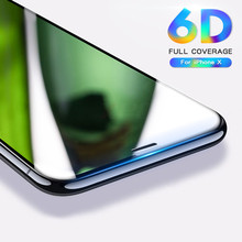 Buy 6D Full Cover Edge Tempered Glass iPhone 8 7 6S Plus X Glass Screen Protector iPhone 6 8 7 Plus Glass Protection Film 9H for $2.91 in AliExpress store