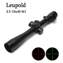 LEUPOLD 3.5-10x40 M1 Tactical Riflescope Optic Sight Red and Green Dot Reticle Scope Hunting Scopes for Airsoft Air Guns
