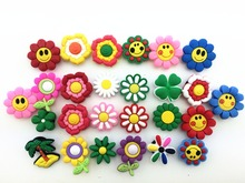 26 Pcs Small Flower Shoe accessories Shoe Charms Shoe Decorations for Croc Bracelet Wristband Kid Gift(China)