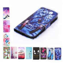 Luxury Two Side Painting Wallet Phone Cover Rose Flower Tower Pattern Flip Leather Case For BQ Strike BQS 5020 BQS-5020(China)
