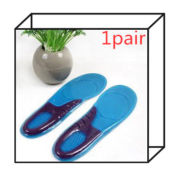HOT 1Pair Feet Care Gel Insoles Inserts Shock Absorbing Silicone Insoles Men Women Athletic Shoes Cushion Foot Care