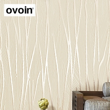 Modern 3D Wallpaper Roll Plain Texture Embossed White Beige Grey Vertical Stripes Wall Paper Home Decor bedroom wallcovering