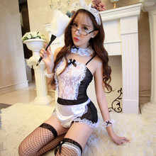 Buy Sexy Maid Costumes Porn Lingerie Sexy Hot Erotic Underwear Women Lace Babydoll Dress Sex Clothes Porno Sexy Maid Uniforms