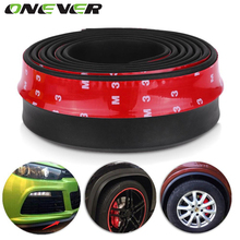 Onever 2.5m Car Protector Front Bumper Lip Splitter Car Sticker Body Kit Spoiler Bumper Valance Chin Car Rubber Strip 60mm Width