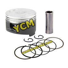 Piston and Ring Set 57.4mm Scooter Engine GY6 150cc Modify Parts 157QMJ Spare Parts wholesale YCM Drop Shipping