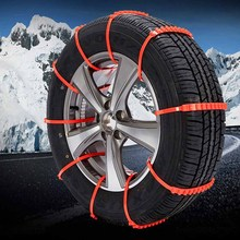 10PCS Car Truck Snow Anti-skid Tire Chains Universal Vehicles Wheel Antiskid Chain TPU fit Tire Width 175-295 For Road Safety(China)