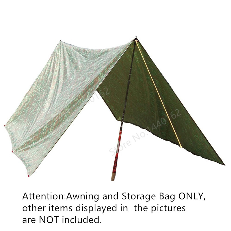 Multifunction Outdoor 3 * 3m Waterproof Sun Shelter Hiking Camping Awning Camouflage Camping Tent<br>